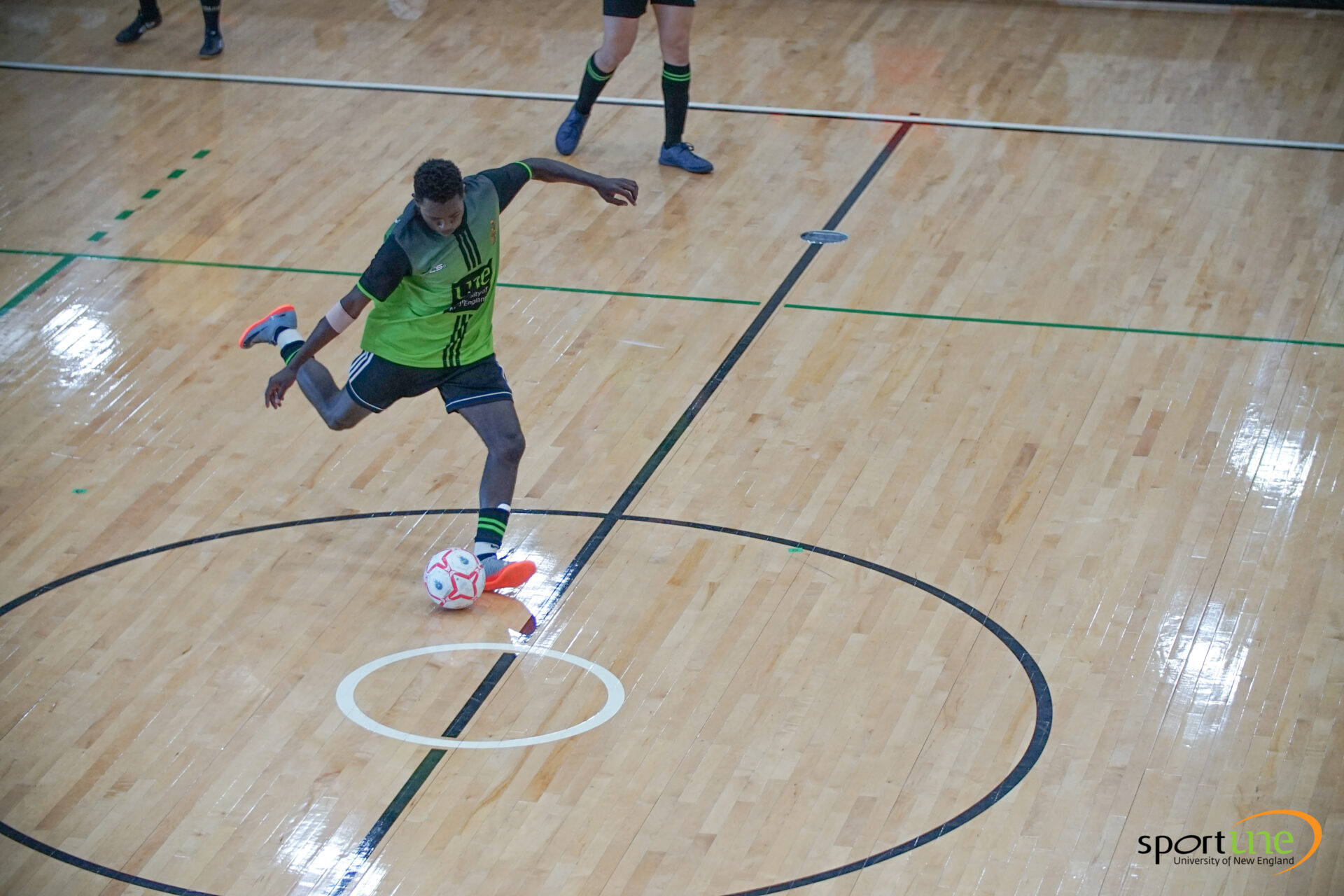 Shuku Sunzu, UNE Sports Academy Student playing soccer at the UniSport Games 2020