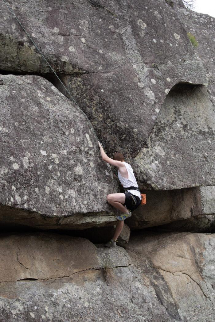 Outdoor Adventure Club, Female rock Climbing